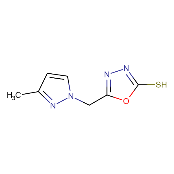 5-(3-Methyl-pyrazol-1-ylmethyl)-[1,3,4]oxadiazole-2-thiol