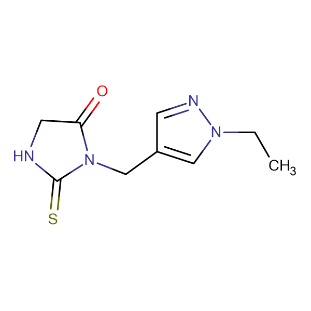 3-(1-Ethyl-1H-pyrazol-4-ylmethyl)-2-thioxo-imidazolidin-4-one