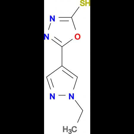 5-(1-Ethyl-1H-pyrazol-4-yl)-[1,3,4]oxadiazole-2-thiol