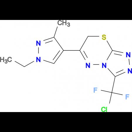 3-(Chloro-difluoro-methyl)-6-(1-ethyl-3-methyl-1H-pyrazol-4-yl)-7H-[1,2,4]triazolo[3,4-b][1,3,4]thia4]thiadiazine