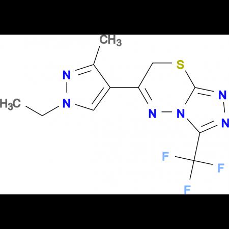 6-(1-Ethyl-3-methyl-1H-pyrazol-4-yl)-3-trifluoro-methyl-7H-[1,2,4]triazolo[3,4-b][1,3,4]thiadiazinezine