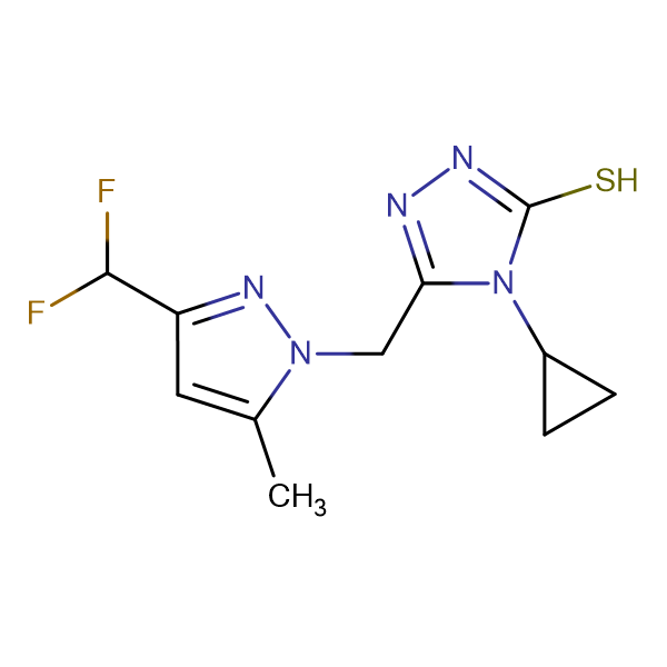 4-Cyclopropyl-5-(3-difluoromethyl-5-methyl-pyrazol-1-ylmethyl)-4H-[1,2,4]triazole-3-thiol