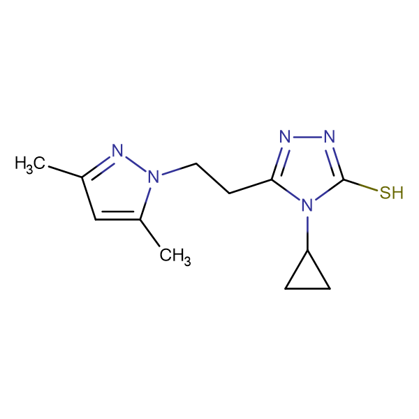 4-Cyclopropyl-5-[2-(3,5-dimethyl-pyrazol-1-yl)-ethyl]-4H-[1,2,4]triazole-3-thiol