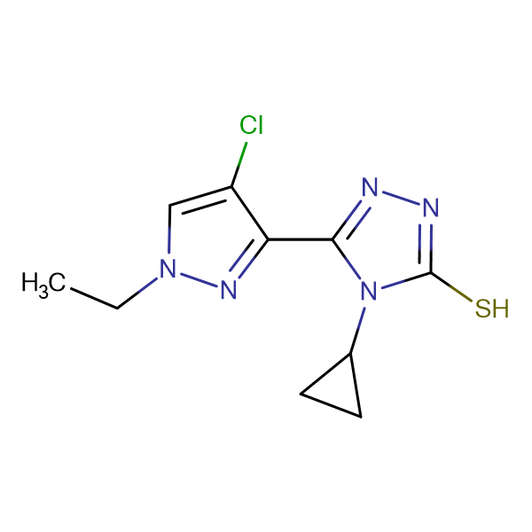 5-(4-Chloro-1-ethyl-1H-pyrazol-3-yl)-4-cyclopropyl-4H-[1,2,4]triazole-3-thiol
