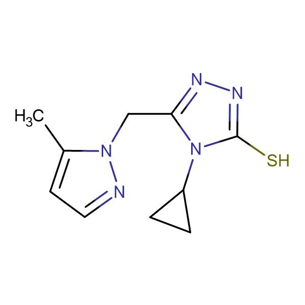 4-Cyclopropyl-5-(5-methyl-pyrazol-1-ylmethyl)-4H-[1,2,4]triazole-3-thiol