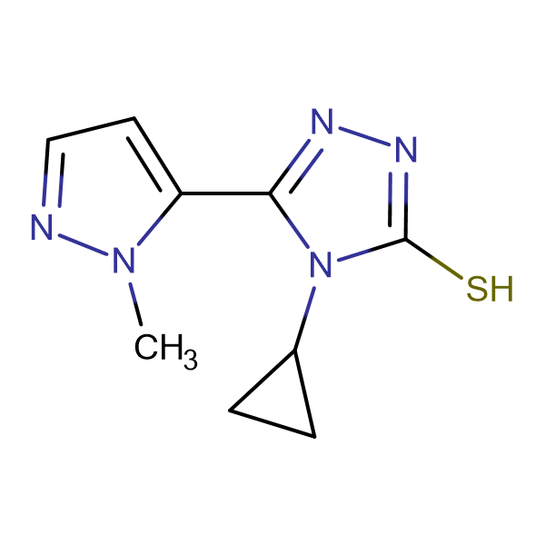 4-Cyclopropyl-5-(2-methyl-2H-pyrazol-3-yl)-4H-[1,2,4]triazole-3-thiol