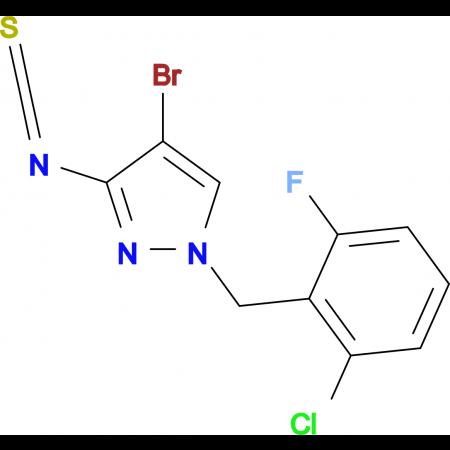 4-Bromo-1-(2-chloro-6-fluoro-benzyl)-3-isothiocyanato-1H-pyrazole