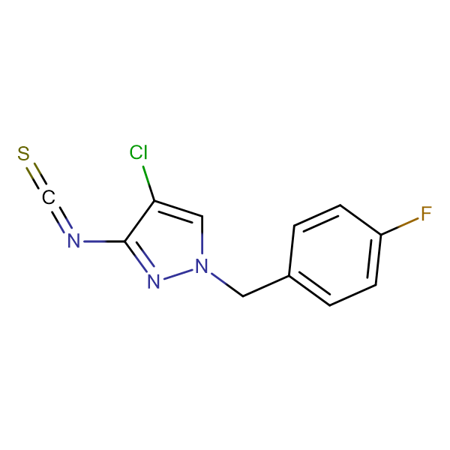4-Chloro-1-(4-fluoro-benzyl)-3-isothiocyanato-1H-pyrazole
