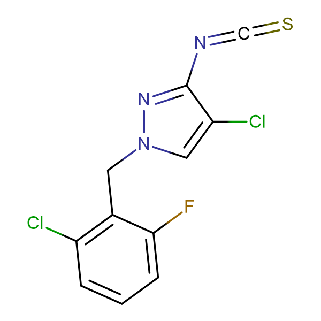 4-Chloro-1-(2-chloro-6-fluoro-benzyl)-3-isothiocyanato-1H-pyrazole