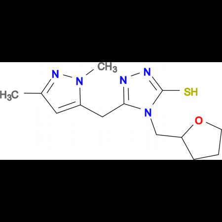 5-(2,5-Dimethyl-2H-pyrazol-3-ylmethyl)-4-(tetra-hydrofuran-2-ylmethyl)-4H-[1,2,4]triazole-3-thioll
