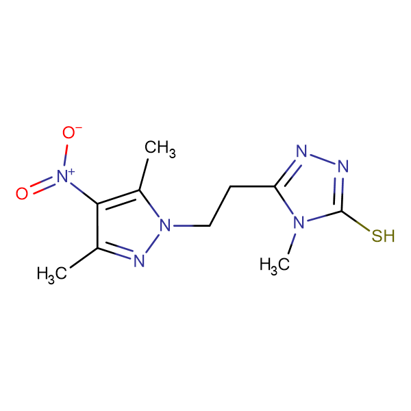 5-[2-(3,5-Dimethyl-4-nitro-pyrazol-1-yl)-ethyl]-4-methyl-4H-[1,2,4]triazole-3-thiol