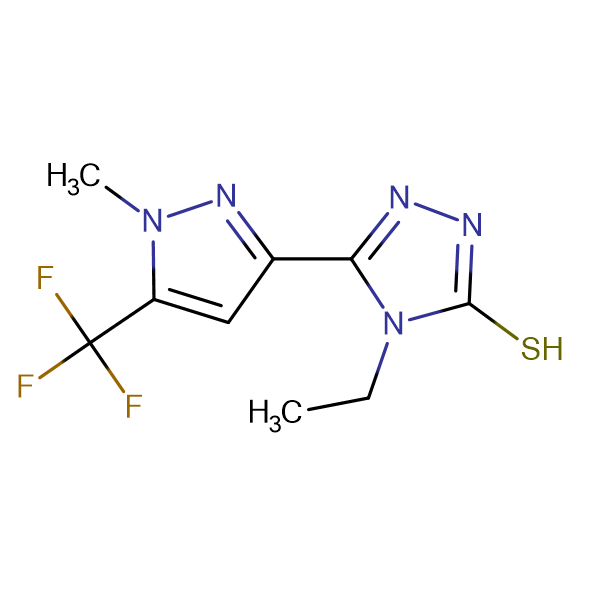 4-Ethyl-5-(1-methyl-5-trifluoromethyl-1H-pyrazol-3-yl)-4H-[1,2,4]triazole-3-thiol