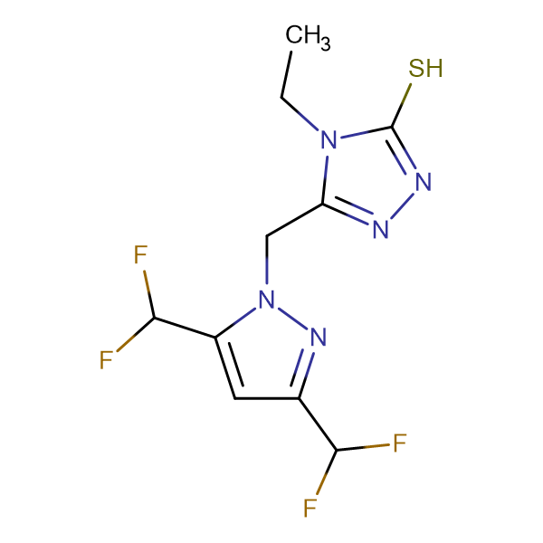 5-(3,5-Bis-difluoromethyl-pyrazol-1-ylmethyl)-4-ethyl-4H-[1,2,4]triazole-3-thiol
