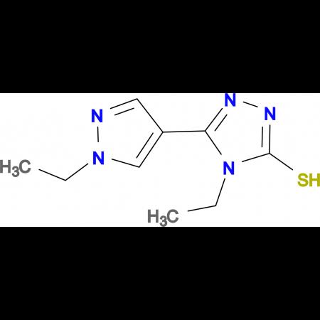 4-Ethyl-5-(1-ethyl-1H-pyrazol-4-yl)-4H-[1,2,4]-triazole-3-thiol