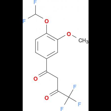 1-(4-Difluoromethoxy-3-methoxy-phenyl)-4,4,4-trifluoro-butane-1,3-dione