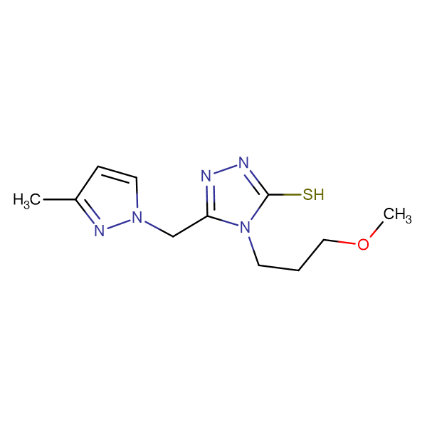 4-(3-Methoxy-propyl)-5-(3-methyl-pyrazol-1-ylmethyl)-4H-[1,2,4]triazole-3-thiol