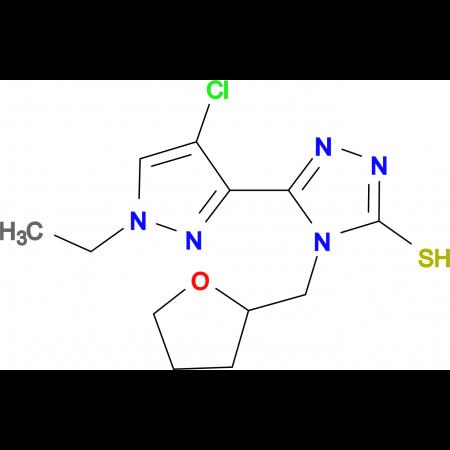 5-(4-Chloro-1-ethyl-1H-pyrazol-3-yl)-4-(tetrahydro-furan-2-ylmethyl)-4H-[1,2,4]triazole-3-thiol