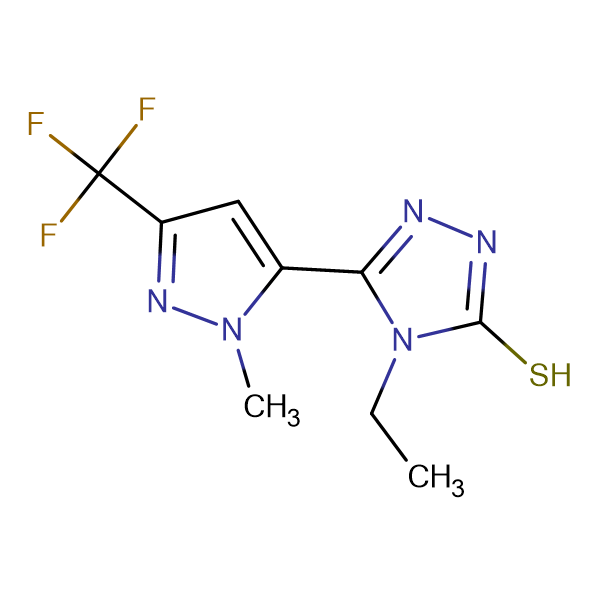 4-Ethyl-5-(2-methyl-5-trifluoromethyl-2H-pyrazol-3-yl)-4H-[1,2,4]triazole-3-thiol