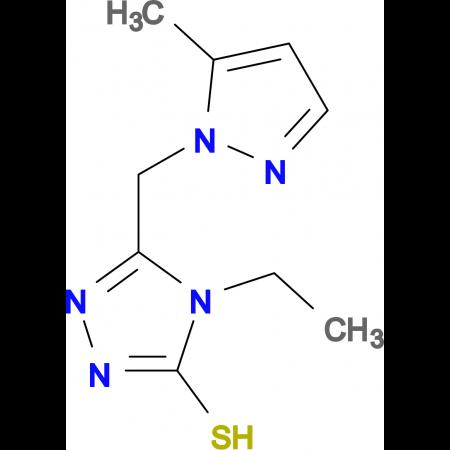 4-Ethyl-5-(5-methyl-pyrazol-1-ylmethyl)-4H-[1,2,4]triazole-3-thiol