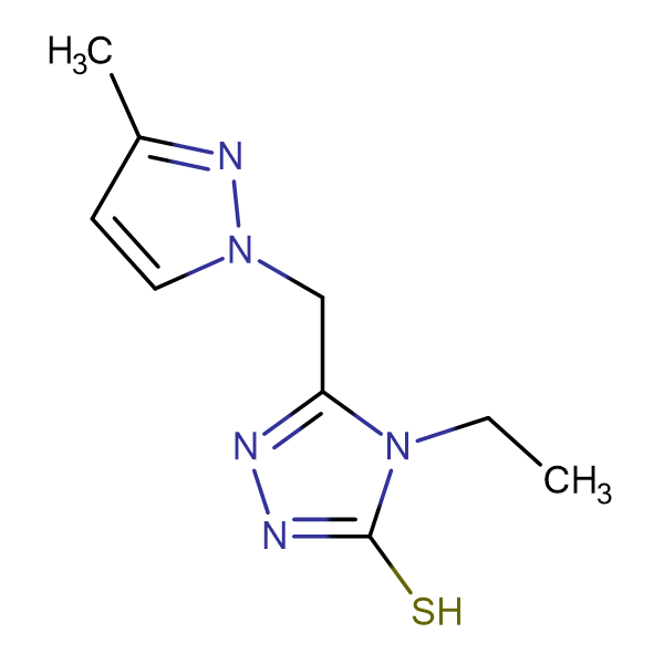 4-Ethyl-5-(3-methyl-pyrazol-1-ylmethyl)-4H-[1,2,4]triazole-3-thiol