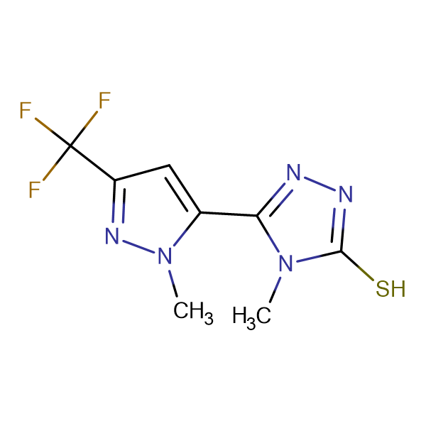 4-Methyl-5-(2-methyl-5-trifluoromethyl-2H-pyrazol-3-yl)-4H-[1,2,4]triazole-3-thiol