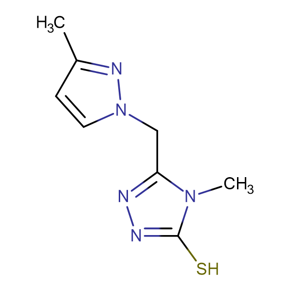 4-Methyl-5-(3-methyl-pyrazol-1-ylmethyl)-4H-[1,2,4]triazole-3-thiol