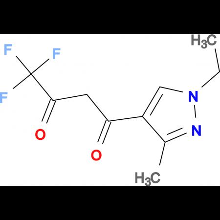 1-(1-Ethyl-3-methyl-1H-pyrazol-4-yl)-4,4,4-trifluorobutane-1,3-dione