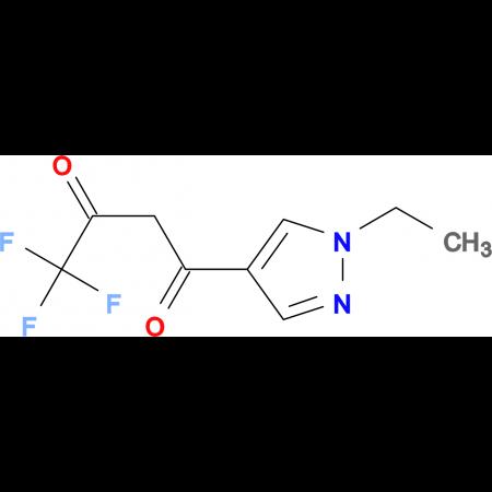 1-(1-Ethyl-1H-pyrazol-4-yl)-4,4,4-trifluorobutane-1,3-dione