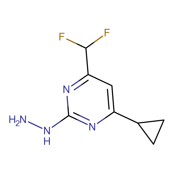 (4-Cyclopropyl-6-difluoromethyl-pyrimidin-2-yl)-hydrazine