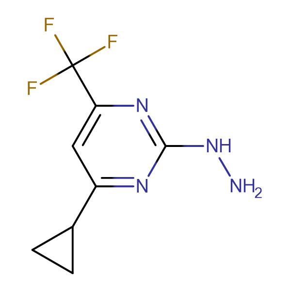 (4-Cyclopropyl-6-trifluoromethyl-pyrimidin-2-yl)-hydrazine