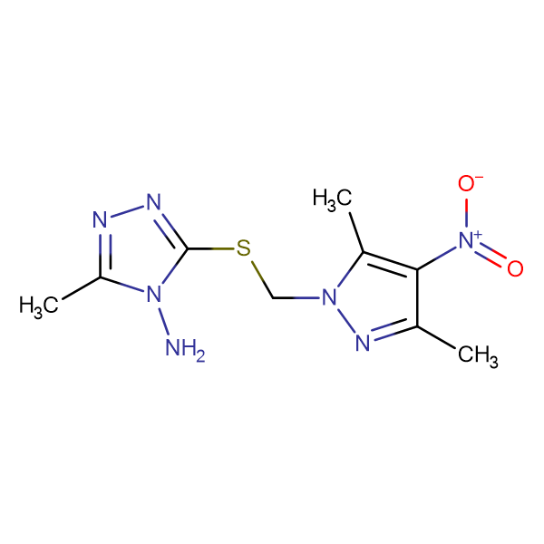 3-(3,5-Dimethyl-4-nitro-pyrazol-1-ylmethylsulfanyl)-5-methyl-[1,2,4]triazol-4-ylamine