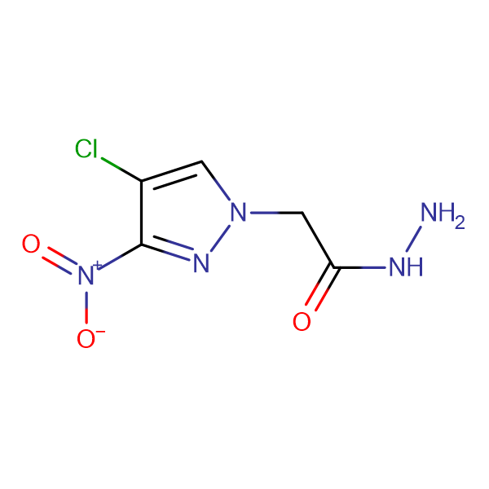(4-Chloro-3-nitro-pyrazol-1-yl)-acetic acid hydrazide