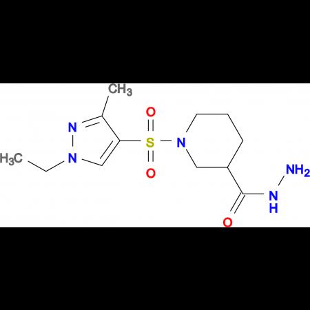 1-(1-Ethyl-3-methyl-1H-pyrazole-4-sulfonyl)-piperidine-3-carbohydrazide