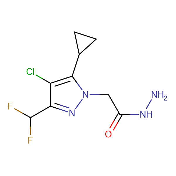 (4-Chloro-5-cyclopropyl-3-difluoromethyl-pyrazol-1-yl)-acetic acid hydrazide