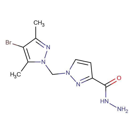 1-(4-Bromo-3,5-dimethyl-pyrazol-1-ylmethyl)-1 H -pyrazole-3-carboxylic acid hydrazide