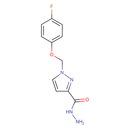 1-(4-Fluoro-phenoxymethyl)-1 H -pyrazole-3-carboxylic acid hydrazide