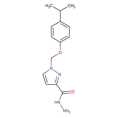 1-(4-Isopropyl-phenoxymethyl)-1 H -pyrazole-3-carboxylic acid hydrazide