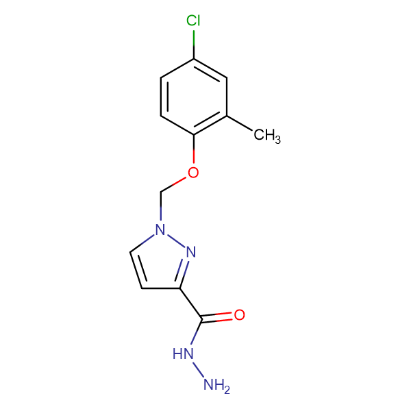 1-(4-Chloro-2-methyl-phenoxymethyl)-1 H -pyrazole-3-carboxylic acid hydrazide