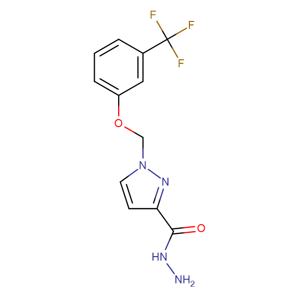 1-(3-Trifluoromethyl-phenoxymethyl)-1 H -pyrazole-3-carboxylic acid hydrazide