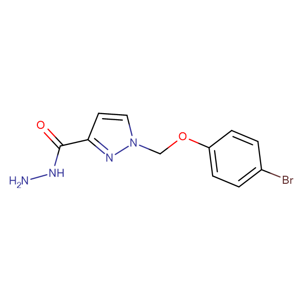 1-(4-Bromo-phenoxymethyl)-1 H -pyrazole-3-carboxylic acid hydrazide