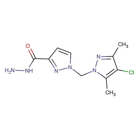 1-(4-Chloro-3,5-dimethyl-pyrazol-1-ylmethyl)-1 H -pyrazole-3-carboxylic acid hydrazide