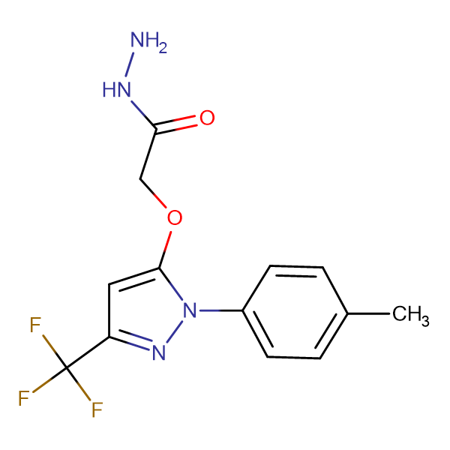 (2- p -Tolyl-5-trifluoromethyl-2 H -pyrazol-3-yloxy)-acetic acid hydrazide