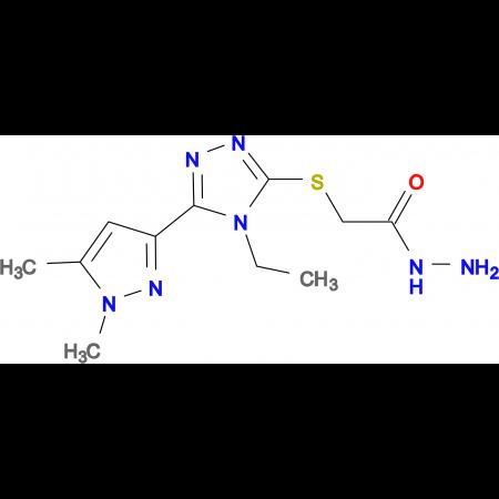 2-{[5-(1,5-Dimethyl-1H-pyrazol-3-yl)-4-ethyl-4H-1,2,4-triazol-3-yl]thio}acetohydrazide