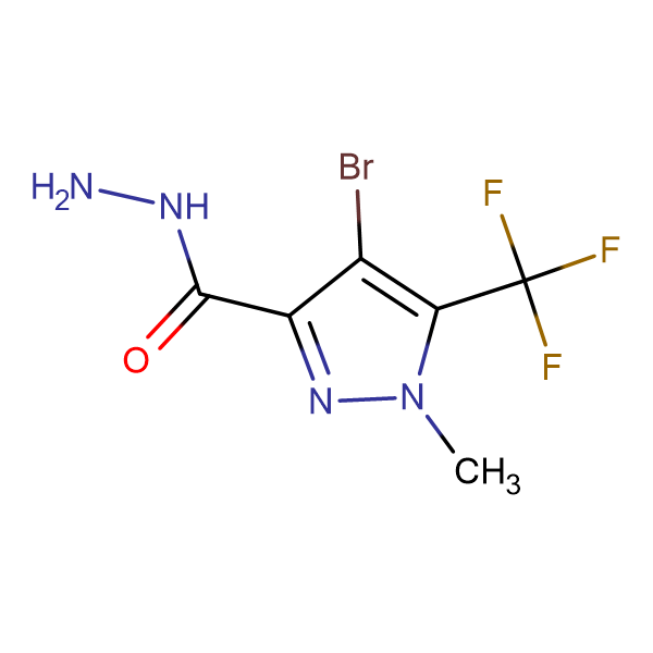 4-Bromo-1-methyl-5-trifluoromethyl-1 H -pyrazole-3-carboxylic acid hydrazide