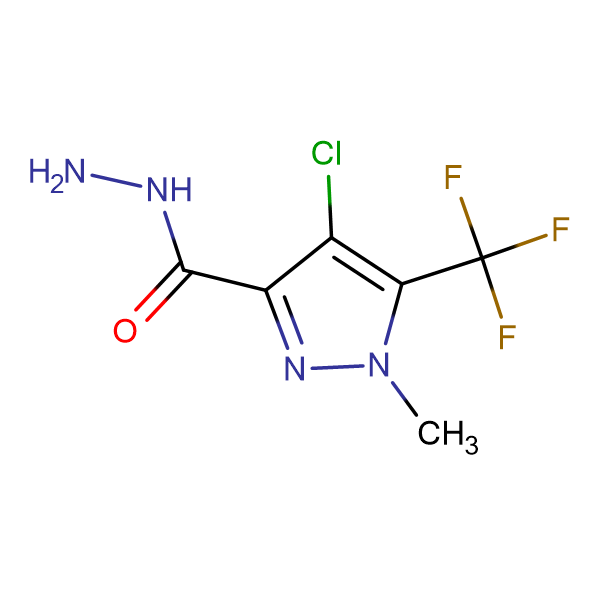 4-Chloro-1-methyl-5-trifluoromethyl-1 H -pyrazole-3-carboxylic acid hydrazide