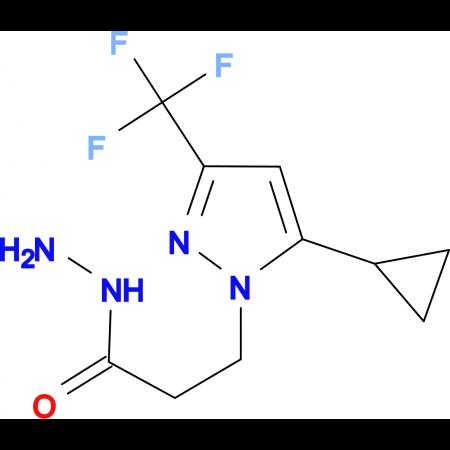 3-(5-Cyclopropyl-3-(trifluoromethyl)-1H-pyrazol-1-yl)propionic hydrazide