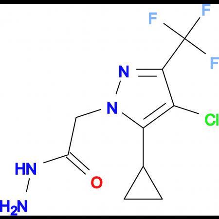 2-[4-Chloro-5-cyclopropyl-3-(trifluoromethyl)-1H-pyrazol-1-yl]acetohydrazide