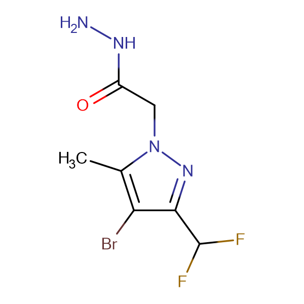 (4-Bromo-3-difluoromethyl-5-methyl-pyrazol-1-yl)-acetic acid hydrazide