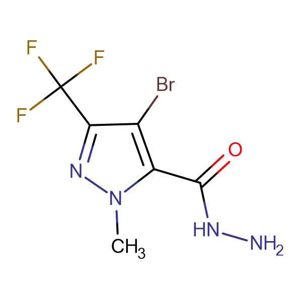 4-Bromo-1-methyl-3-(trifluoromethyl)-1H-pyrazole-5-carbohydrazide