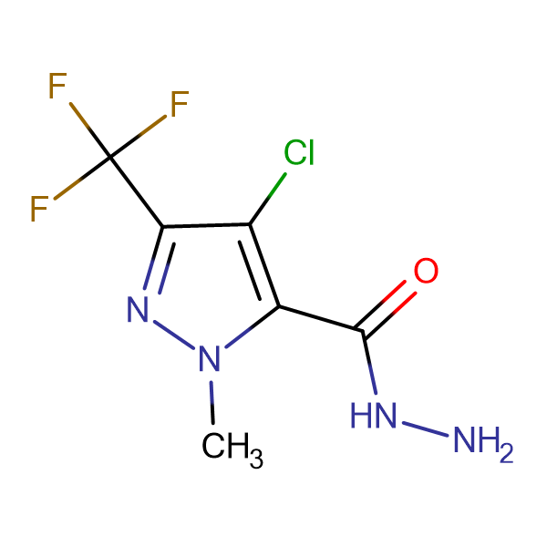 4-Chloro-1-methyl-3-(trifluoromethyl)-1H-pyrazole-5-carbohydrazide